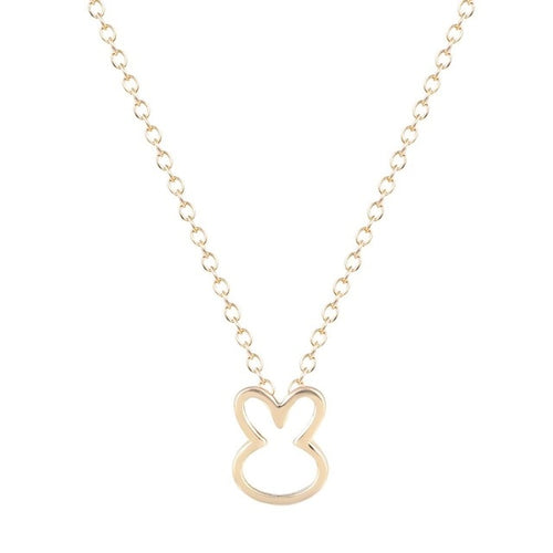 Gold Plated Rabbit Necklace