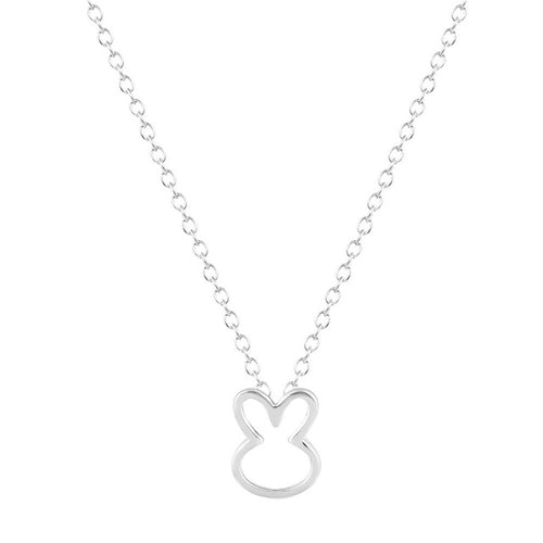 Silver Plated Rabbit Necklace