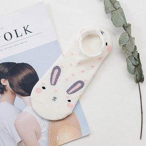 Cotton Bunny Ankle Socks
