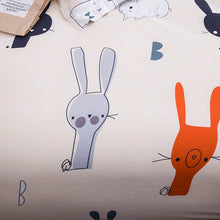 Load image into Gallery viewer, Reversible Bunny/Carrot Duvet Cover
