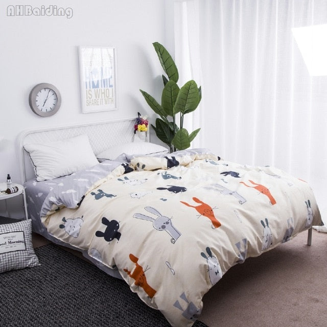 Reversible Bunny/Carrot Duvet Cover
