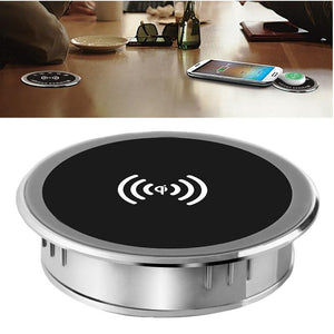 5W 10W 15W Built-in Desktop Qi Wireless Charger Device - DamiTan