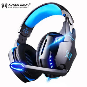 PS4 Gaming Headset Deep bass Stereo Casque Wired Game Earphones Gaming Headphones with Microphone for PS4 PC Laptop - DamiTan