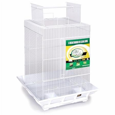 Clean Life Play Top Bird Cage - White