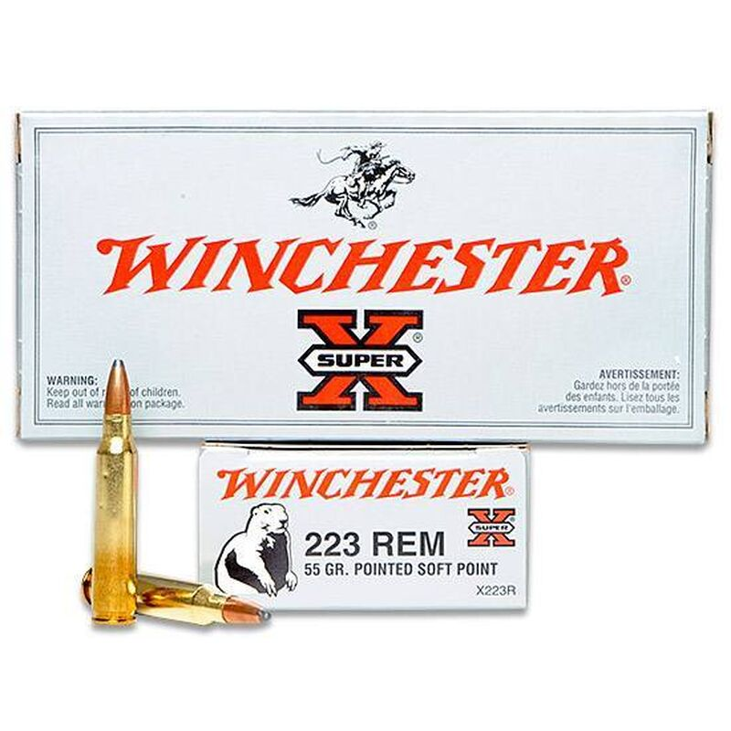 Winchester super-x 223 rem 55grain pointed soft point