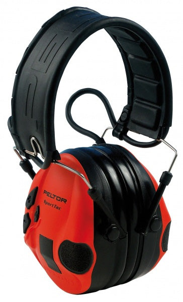 3M Peltor SportTac Electronic Earmuffs (Black/Red)