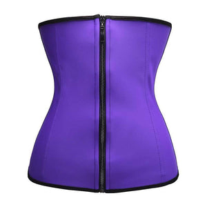 """Clip & Zip"" Waist Trainer - Triple Hook and Zippered Body Shaper"