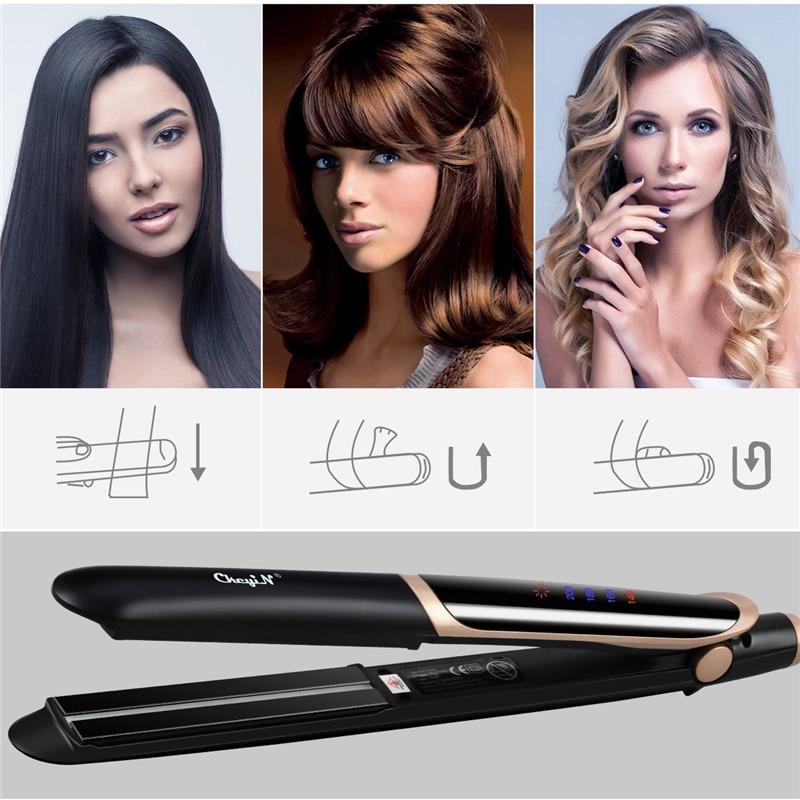 Professional Hair Straightener Brush Electric Heated Air Straightening Fast Dryer Iron Comb