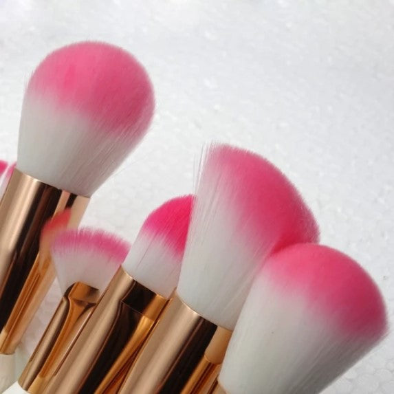 11Pcs Conch Shell Unicorn Makeup Brushes Set