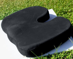 Orthopedic Comfort Memory Foam Coccyx Seat Pad And Back Support Set