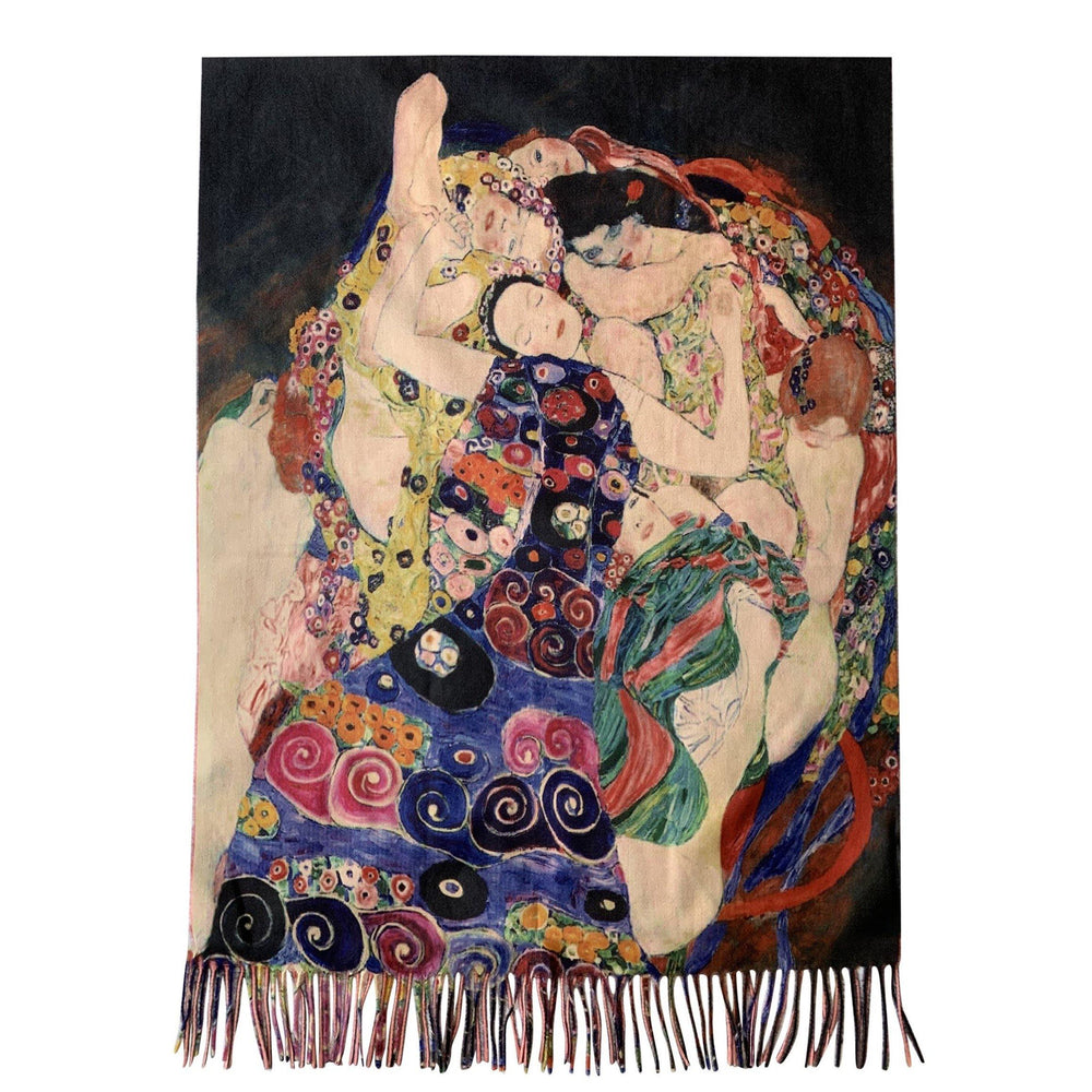 Gyapjú Sál-Kendő, 70 cm x 180 cm, Klimt - Three Ages Of Women