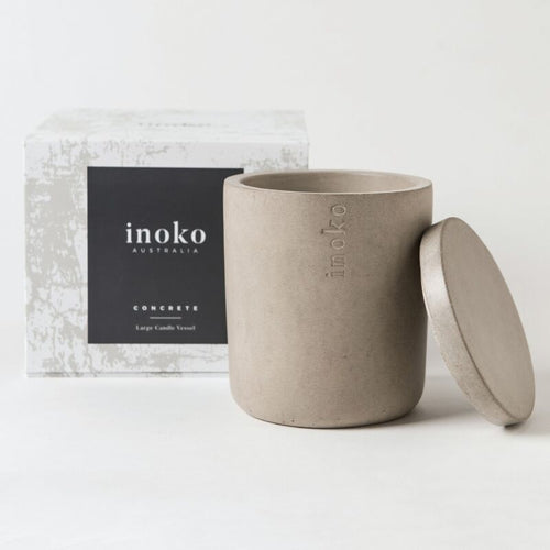 Inoko Large Concrete Candle Vessel