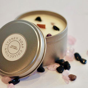 Sweet Lemongrass - Crystal Embedded Candle - 225g Tin