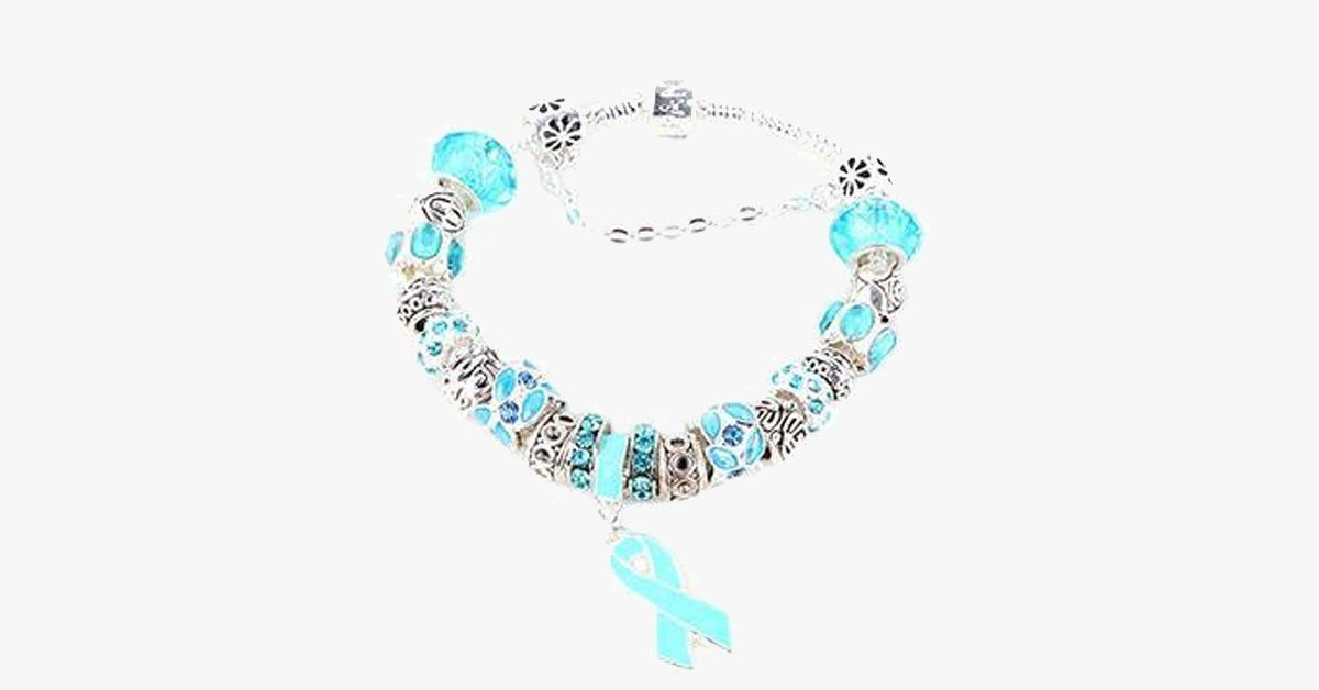 Blue Ribbon Awareness Bracelet - FREE SHIP DEALS