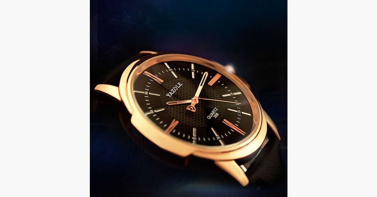 Quartz Men's Wrist Watch – Absolute Beauty in Rose Gold