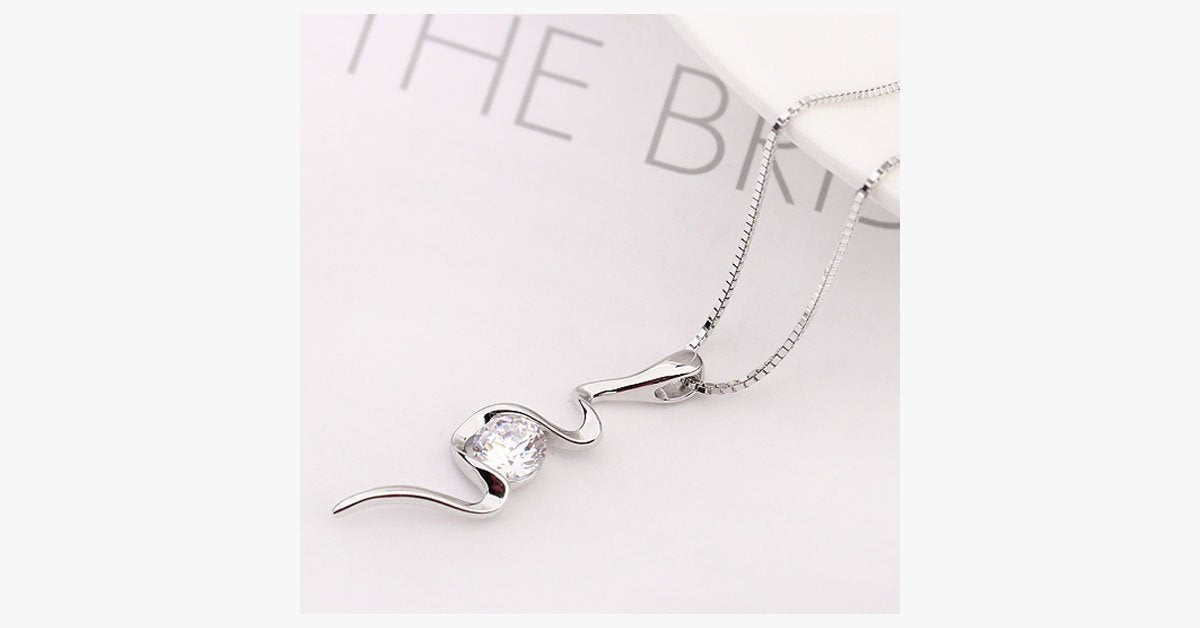 Crystal Bolt Necklace - FREE SHIP DEALS