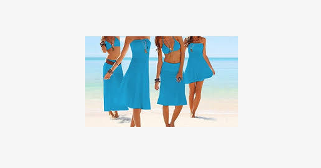 4-in-1 Strapless Beach Dress - Assorted Colors - FREE SHIP DEALS
