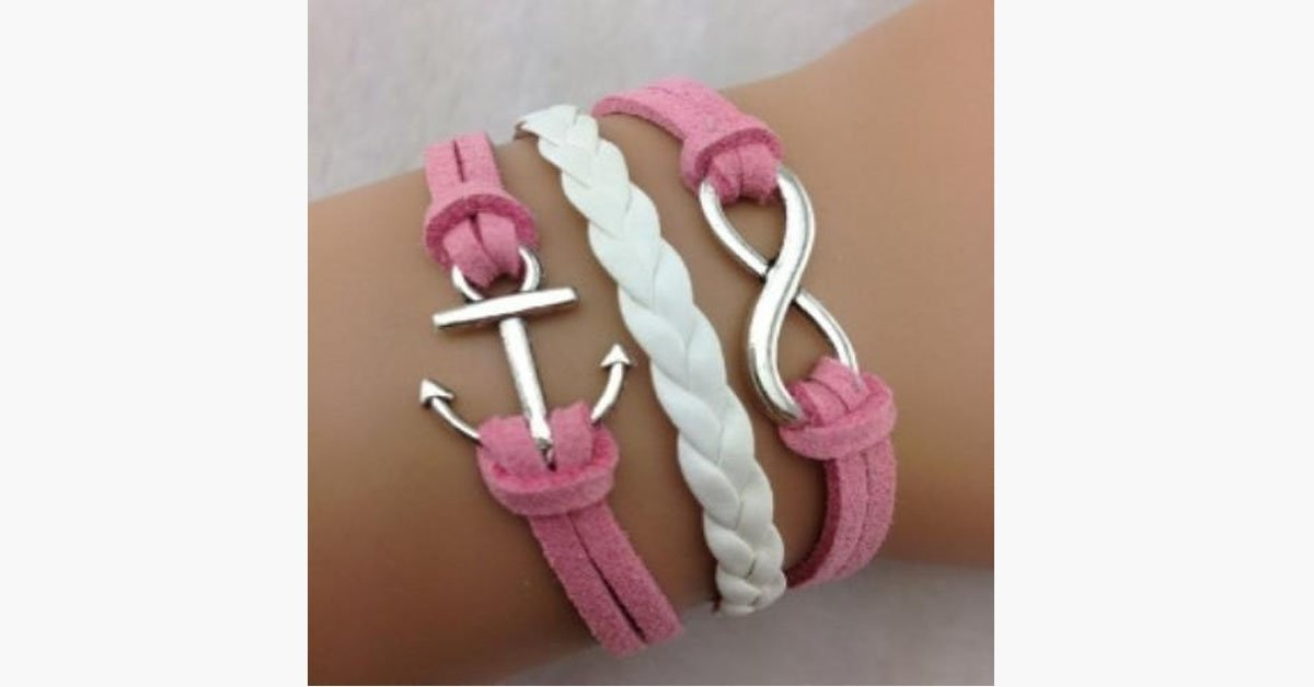 Infinity Anchor Pink - FREE SHIP DEALS