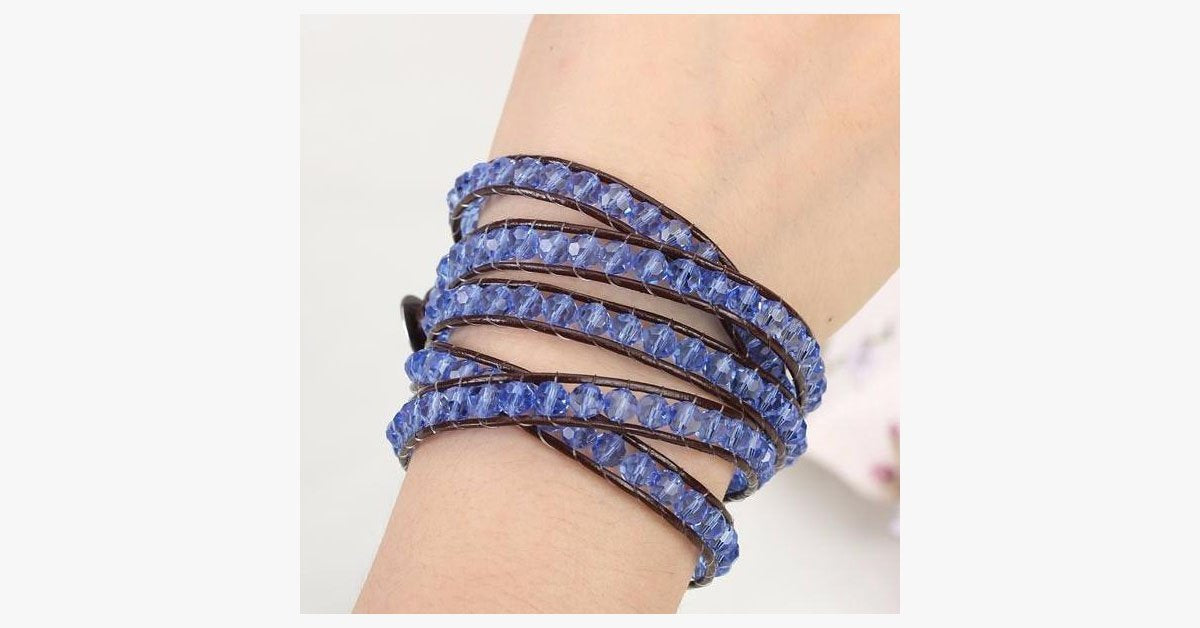 Blue Thunder Wrap Bracelet - FREE SHIP DEALS