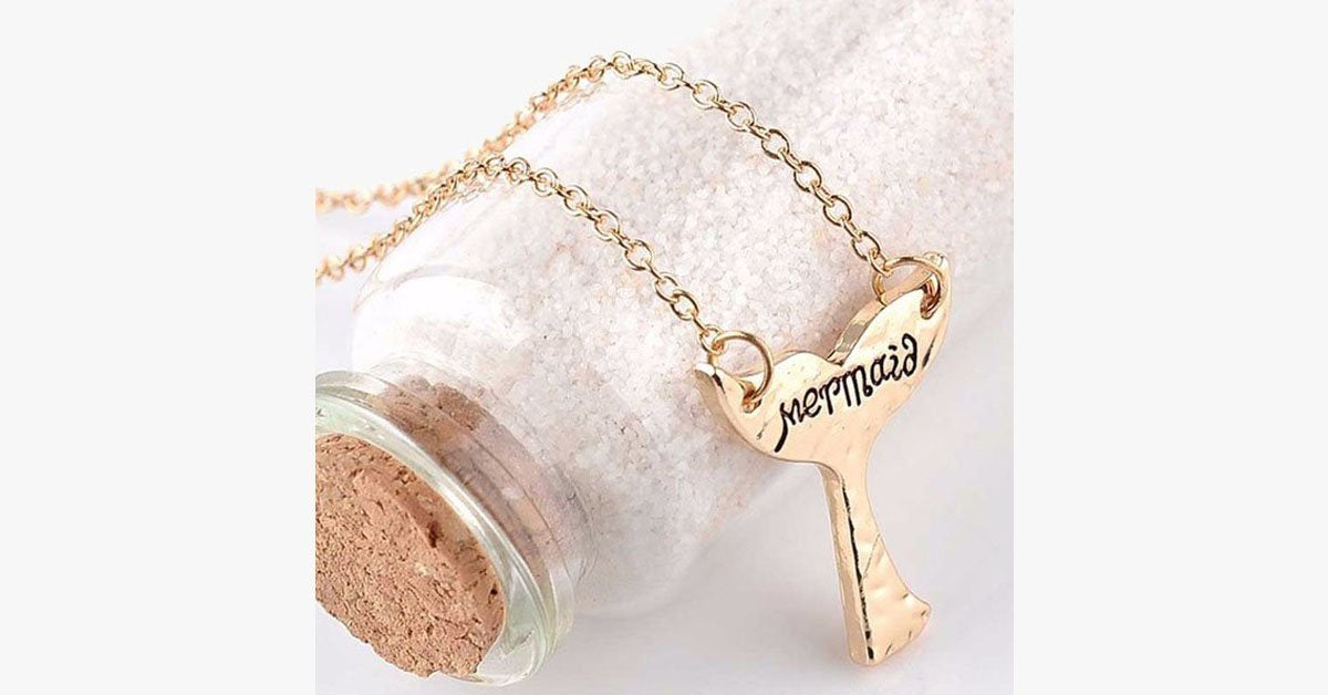 Cute Mermaid Tail Pendant Necklace - FREE SHIP DEALS
