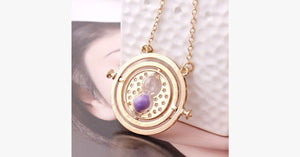 Rotating Time Turner Necklace- Escape Into The Magical World Of Harry Potter!