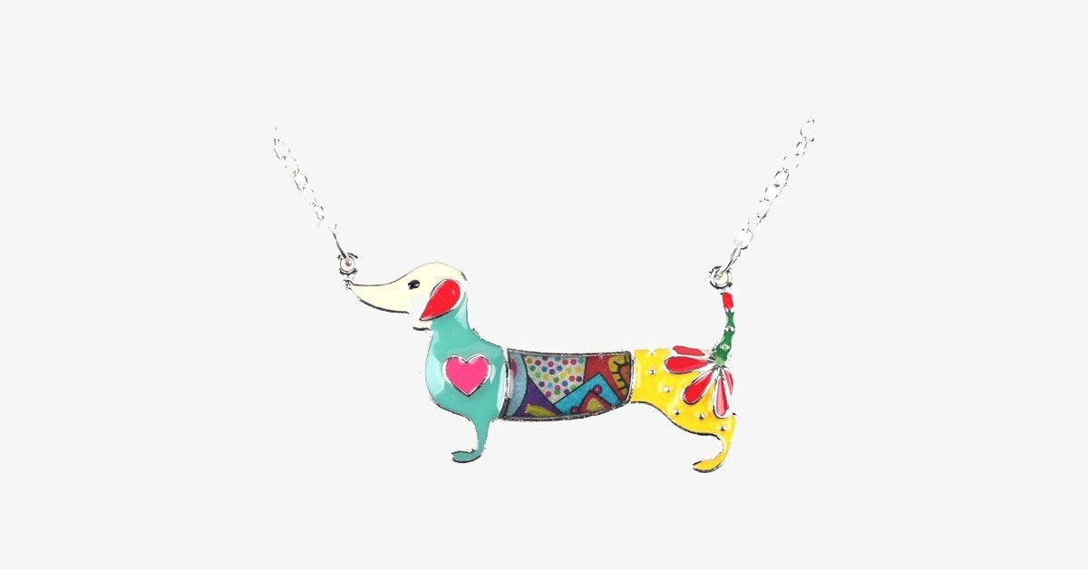 Dachshund Dog Pendant Necklace - FREE SHIP DEALS