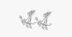 Chic Rhine-stoned Leaf Branch Earrings For Women - FREE SHIP DEALS