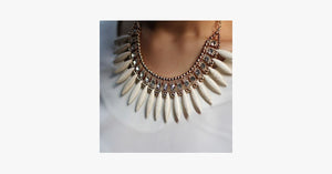 Bohemian Tassels Fringe Drop Statement Necklace - FREE SHIP DEALS