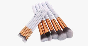 Chic Brush Set of Marble Handle Brushes-Multi-Purpose Luxurious Looking Brushes