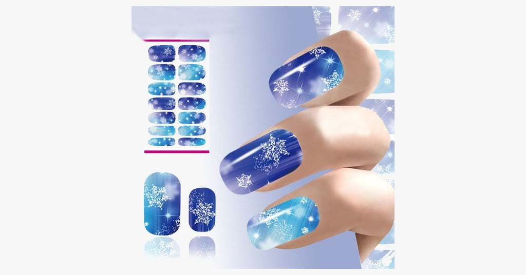 Christmas Nail Stickers - Snowflakes - FREE SHIP DEALS