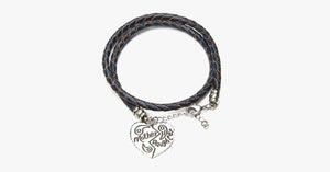 Mother Daughter Heart Hand Stamped Bracelet - FREE SHIP DEALS