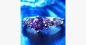 Purple Amethyst Ring - FREE SHIP DEALS