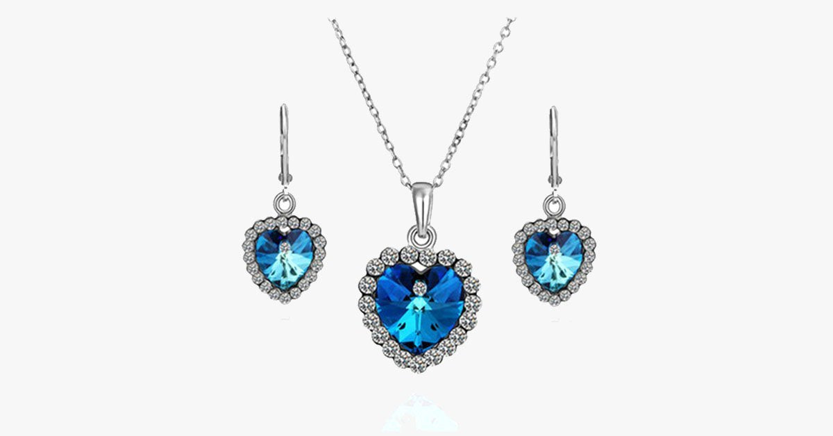 Love Crystal Heart Set - FREE SHIP DEALS