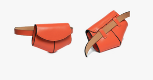 Leather Solid Waist Bag