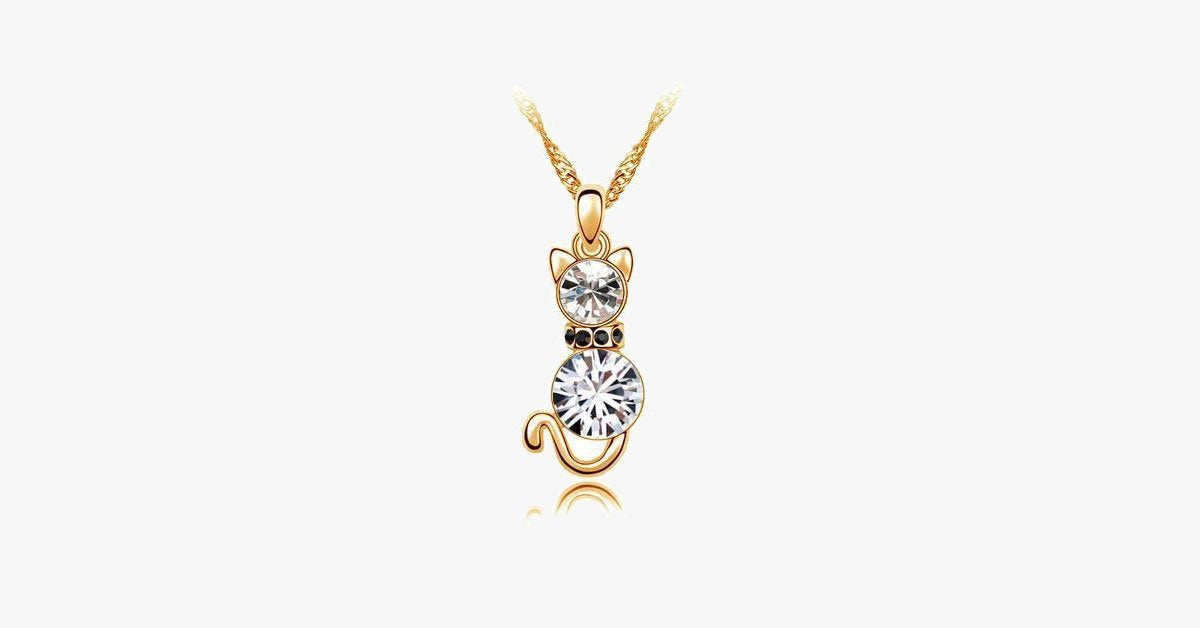 Crystal Cat Necklace - FREE SHIP DEALS