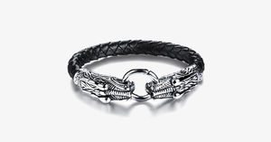 Game Of Thrones Inspired Double Dragon Stainless Steel Men's Bracelet - FREE SHIP DEALS