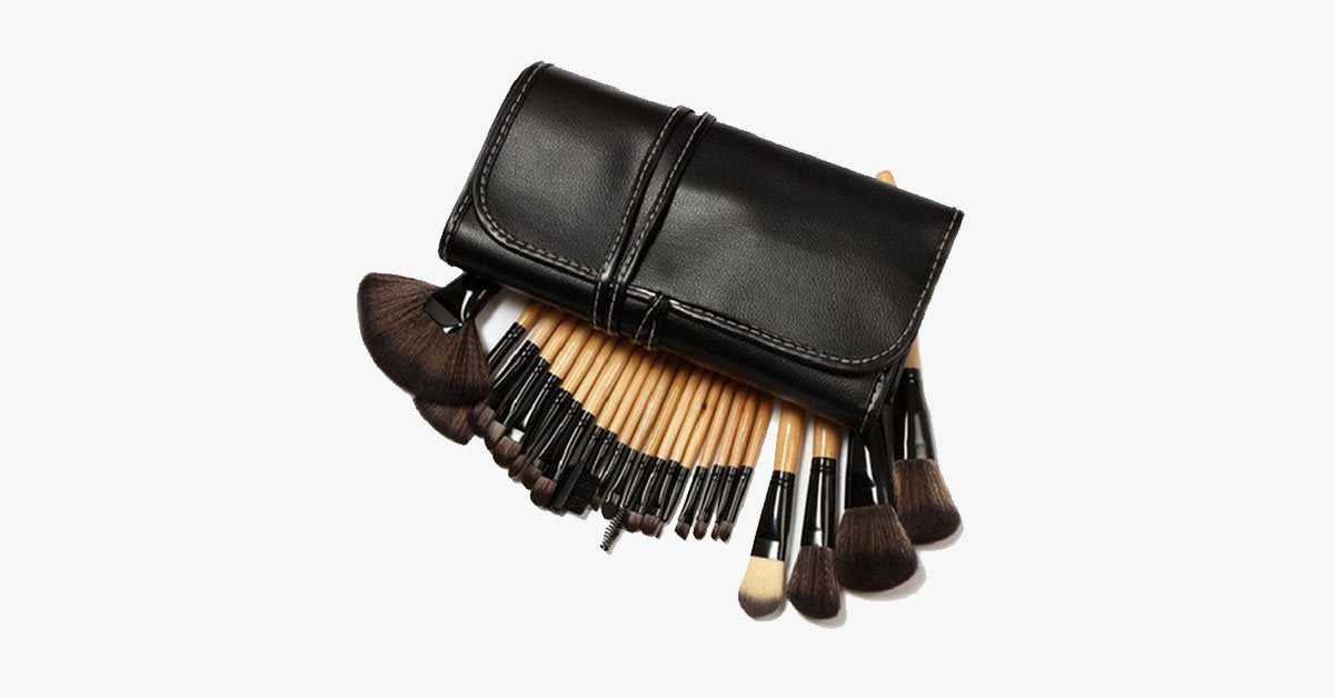32 Piece Brush Set with Case - FREE SHIP DEALS