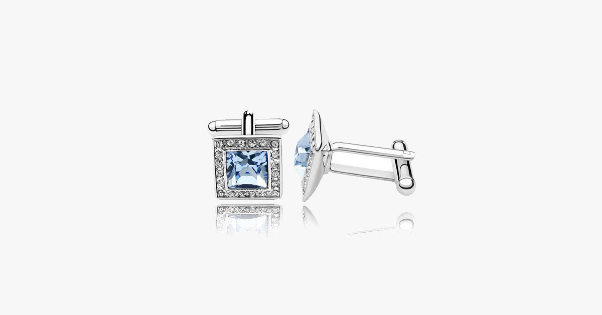 Delicate Crystal Rubic Cufflink - FREE SHIP DEALS