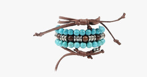 Hamsa Four Rope Turquoise Bracelet - FREE SHIP DEALS