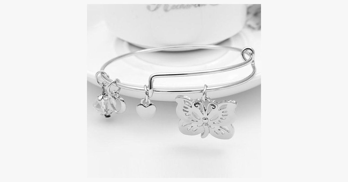 Butterfly Charm Bangle - FREE SHIP DEALS
