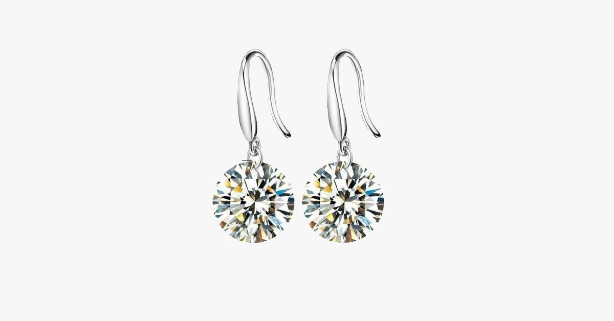 Crystal Earrings - 8mm - FREE SHIP DEALS