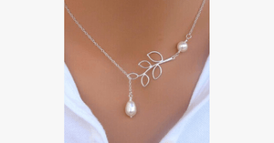 Leaf Pearl Necklace - FREE SHIP DEALS