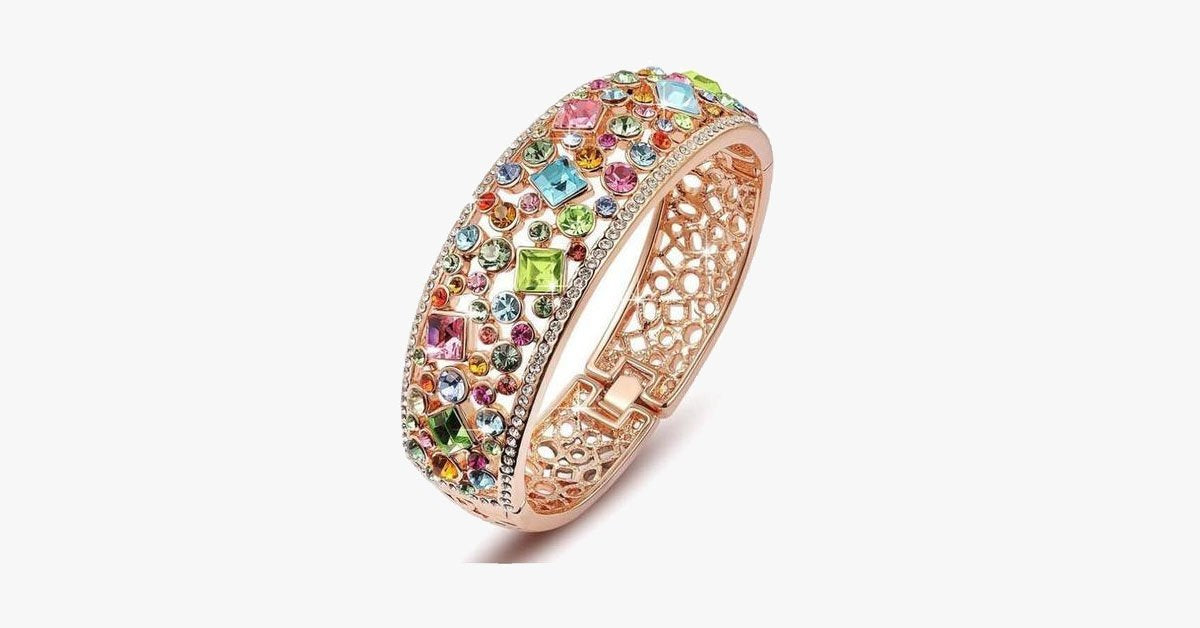 Colorful Crystal Bangle - FREE SHIP DEALS
