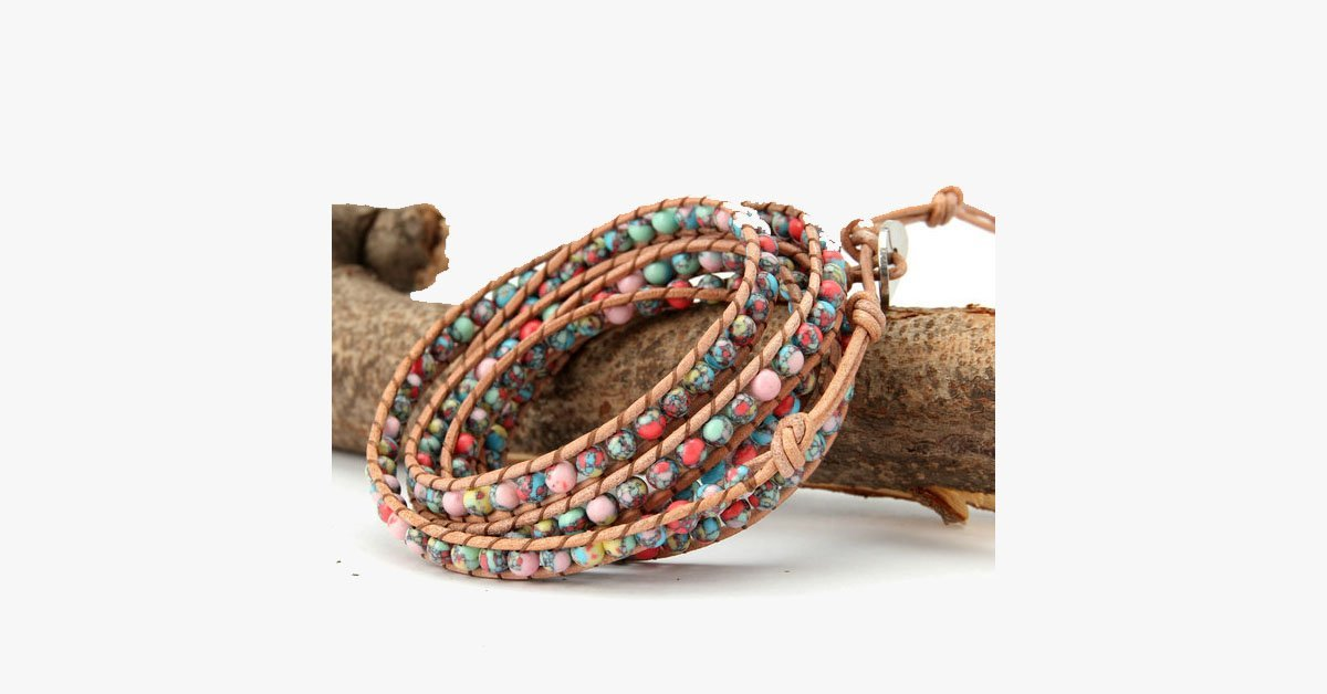 Beautiful Colourful Mess Wrap Bracelet - FREE SHIP DEALS