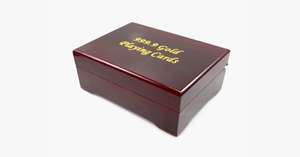 24K Gold-Plated Playing Cards with Optional Case - FREE SHIP DEALS
