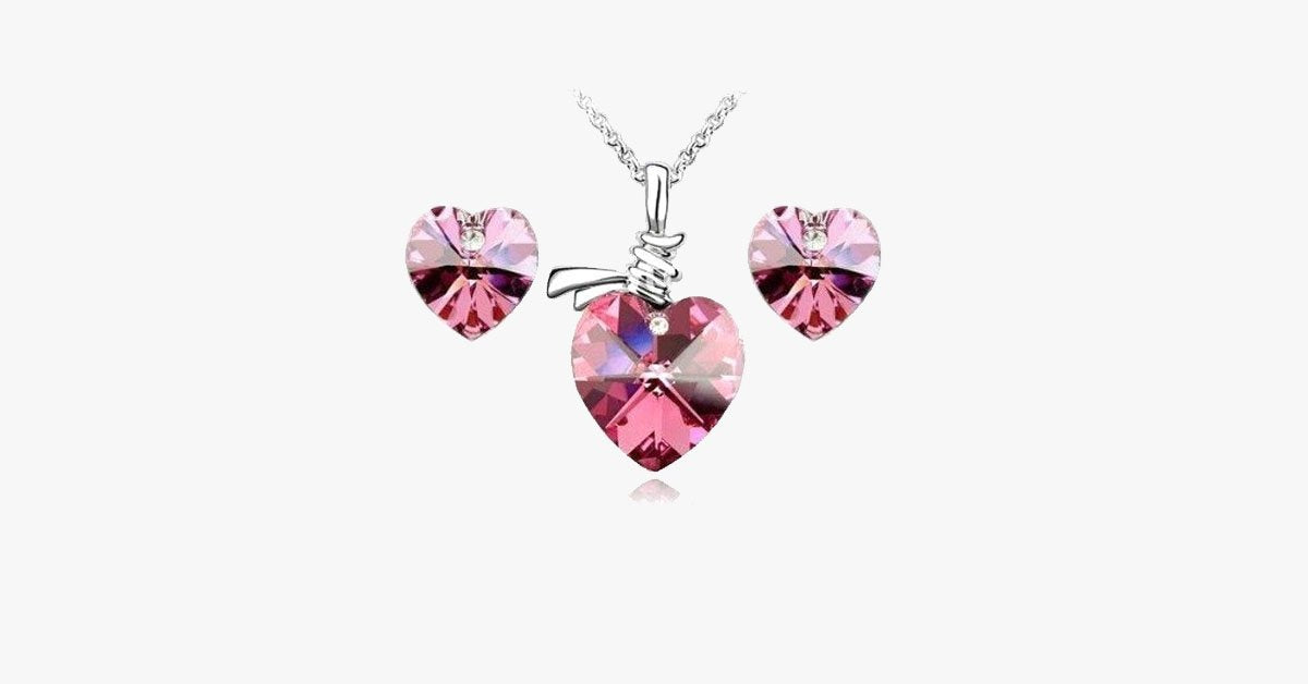 Diamond Heart Necklace - FREE SHIP DEALS