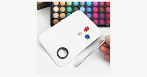 Beauty Stainless Mixing Palette With Spatula Tool - FREE SHIP DEALS
