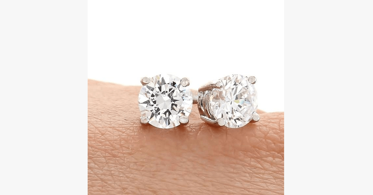 Crystal Stud Earrings - 4mm - FREE SHIP DEALS