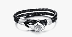 Men's Angels Wing Silver Plated Bracelet