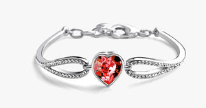 Heart Garnet Bracelet - FREE SHIP DEALS